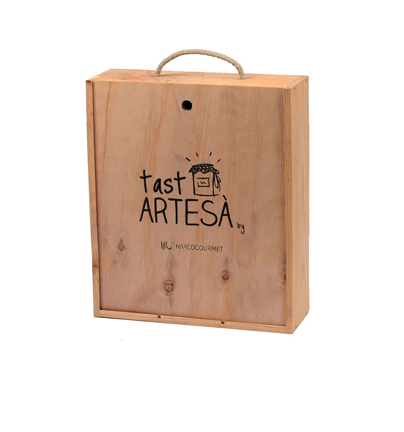 Lots de Nadal Tast Artesà Caixa fusta, Regals gastronòmics
