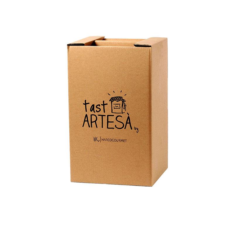 Lots de Nadal caixa cartró Tast Artesà, Paneres de Nadal, Cistelles de Nadal, Regals gastronòmics